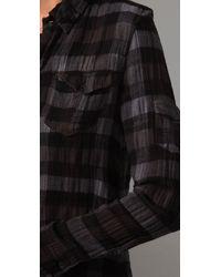 Joe's Jeans - Black The Shirt Sexy Military Dress - Lyst