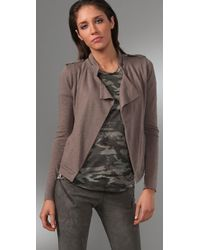 Madewell - Natural Mae Open Drape Jacket - Lyst