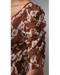 Madewell - Brown Tea Party Dress - Lyst