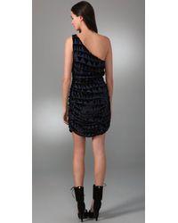 Mara Hoffman - Black One Shoulder Mini Dress - Lyst