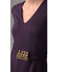 MILLY - Purple Lillie Dress in Plum Italian Ponti Knit - Lyst