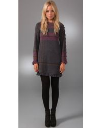 Nanette Lepore | Gray Tea N Tartan Plaid Sweater Dress | Lyst