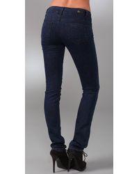 PAIGE - Blue Hidden Hills Straight Leg Jeans - Lyst