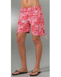 Pret-a-surf | Red Tropical Long Shorts | Lyst