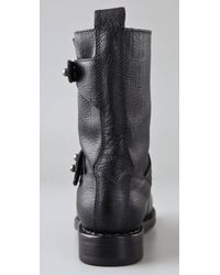 Rag & Bone | Black Moto Boot | Lyst