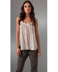 Rebecca Taylor | Natural Patch & Lace Cami | Lyst