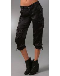 Rich & Skinny | Black Cool Cargo Silk Pants | Lyst