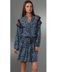 See By Chloé | Blue Boho Floral Print Dress | Lyst