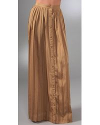 Shakuhachi | Brown Pleats Please Long Skirt | Lyst