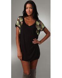 T-bags - Black Embellished Sleeve Dress - Lyst