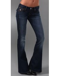 True Religion - Blue Carrie Flare Jeans - Lyst