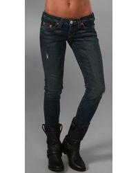 True Religion | Blue Petite Stella Skinny Jeans | Lyst