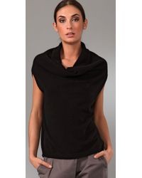 Vince - Black Cowl Circle Cashmere Sweater - Lyst