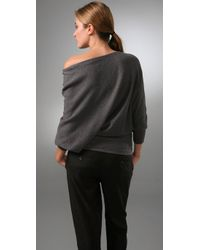 Vince - Gray Wedge Tunic Sweater - Lyst