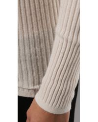 Vince - White Ribbed Turtleneck Sweater - Lyst