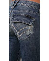 William Rast | Blue Belle Flap Flare Jeans | Lyst