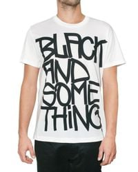 Y-3 | White Black and Something Jersey T-shirt for Men | Lyst