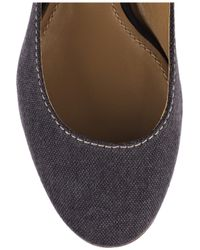 Chloé - Blue Ankle-strap Canvas Ballerina Flats - Lyst