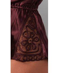 La Fee Verte - Purple Silk Teddy - Lyst