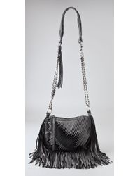 Nanette Lepore | Black Twisted Fringe Group Leather Mini Bag | Lyst