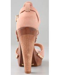 Schutz - Pink Clog Platform Sandals - Lyst