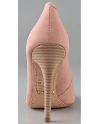 Schutz - Pink High Heel Suede Pumps - Lyst