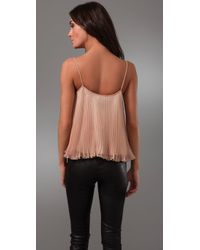 Torn By Ronny Kobo - Pink Nadya Pleated Top - Lyst