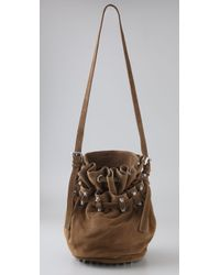 Alexander Wang | Brown Diego Bucket Bag in Cut Velvet Leather | Lyst