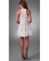 L.A.M.B. | White Tiered Tank Dress | Lyst