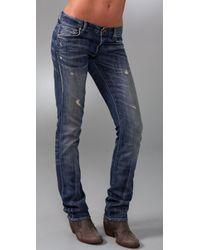 PRPS | Blue Camaro Repair Straight Leg Jeans | Lyst