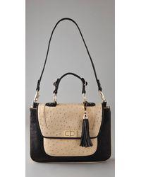 Rebecca Minkoff | Black Covet Ostrich Day Bag | Lyst