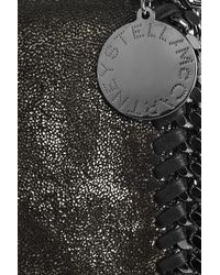 Stella McCartney - Metallic Falabella Chain-trimmed Clutch - Lyst
