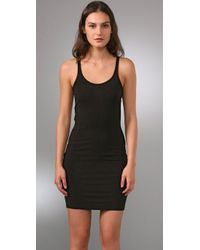 T By Alexander Wang - Black Modal Spandex Cami Layering Dress - Lyst
