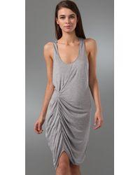 Thakoon - Gray Addition Twist Front Tank Dress - Lyst