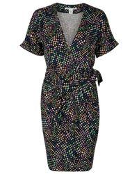 Diane von Furstenberg | Black Printed Silk Chiffon Dress - Multicolor | Lyst