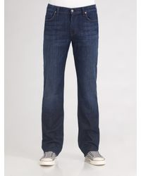 7 For All Mankind | Black Austyn Straight-leg Jeans for Men | Lyst