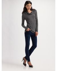 7 For All Mankind | Purple High-waist Skinny Jeans | Lyst