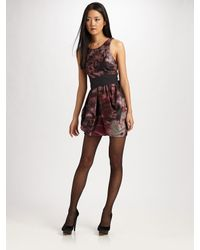 Alice + Olivia | Purple Bow-belt Tulip Dress | Lyst