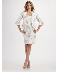 Armani | Natural Floral Taffeta Blouse Jacket | Lyst
