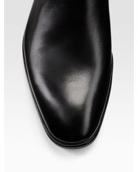 Bally | Black Dress Leather Ankle Boots for Men | Lyst