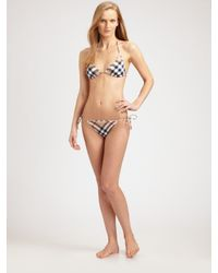 Burberry Brit - Natural Check-print Bikini Bottom - Lyst