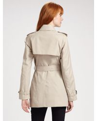 Burberry - Natural Mottram Double Breasted Trenchcoat - Lyst