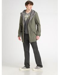 Converse | Green Hooded Dobby Jacket for Men | Lyst