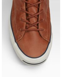 Converse | Brown Jack Purcell Racearound High-tops for Men | Lyst