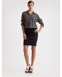 Diane von Furstenberg | Black Dvf Shilah Slit Ceramic Pencil Skirt | Lyst