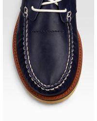 DIESEL - Blue Harbor Mid-top Boat Shoes for Men - Lyst