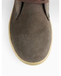DIESEL - Green Midtown Suede Chukka Boots for Men - Lyst