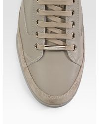 Dior Homme | Natural High-top Leather Sneakers for Men | Lyst