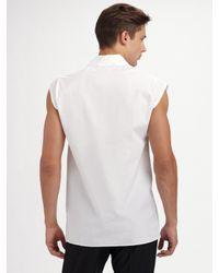 Dior Homme - White Sleeveless V-neck Tee for Men - Lyst