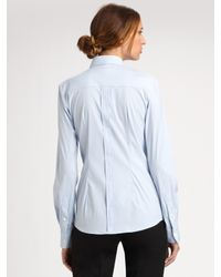 Dolce & Gabbana - Blue Wool Pinstripe Pants - Lyst